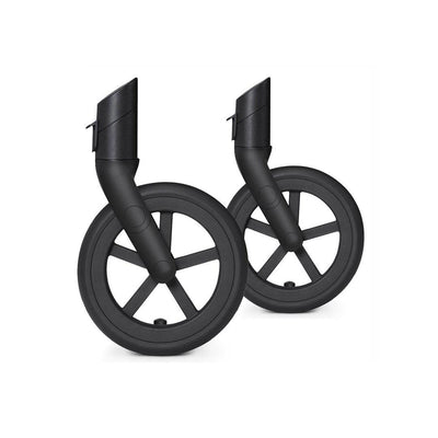 CYBEX Priam Front Wheel Set All Terrain/Trekking - Black-Stroller Wheels- Natural Baby Shower