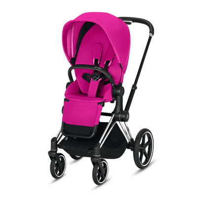 CYBEX Priam Pushchair - Fancy Pink-Strollers-Chrome Black-None- Natural Baby Shower