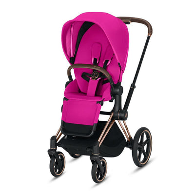 Cybex ePriam Pushchair - Fancy Pink-Strollers-Rose Gold-None- Natural Baby Shower