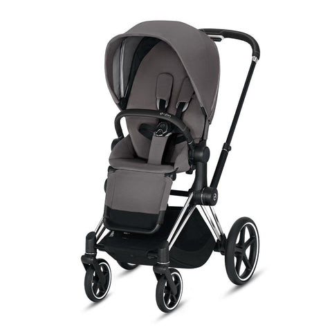 Cybex Priam Pushchair - Manhattan Grey-Strollers-Chrome Black-None- Natural Baby Shower