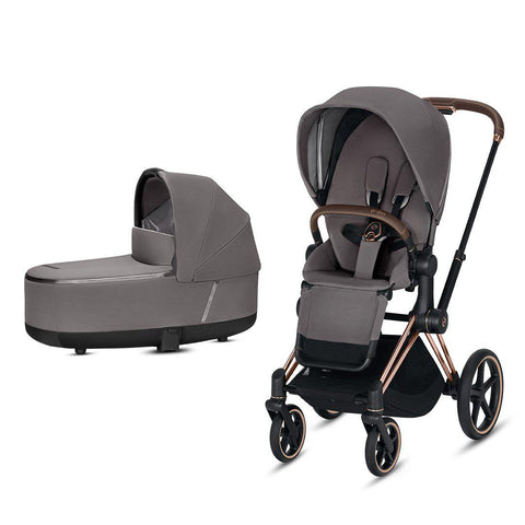 Cybex Priam Pushchair - Manhattan Grey-Strollers-Rose Gold-Lux- Natural Baby Shower