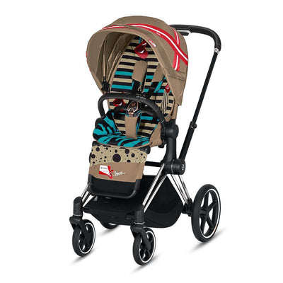 Cybex Priam Pushchair - One Love - Karolina Kurkova-Strollers-Chrome Black-None- Natural Baby Shower