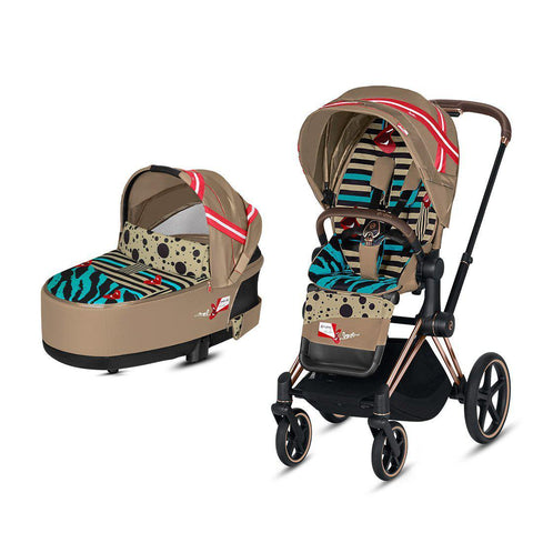 Cybex ePriam Pushchair - One Love - Karolina Kurkova-Strollers-Rose Gold-Lux- Natural Baby Shower