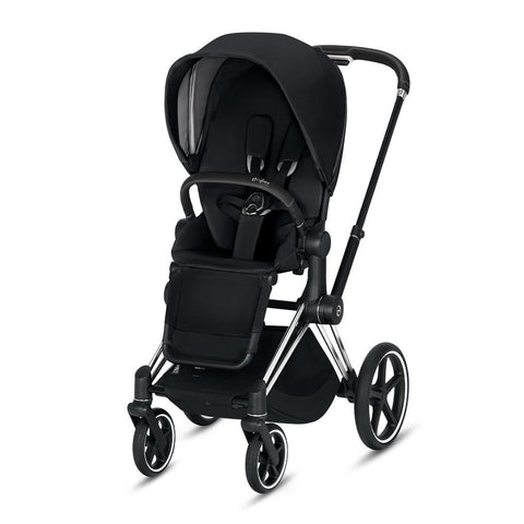 Cybex Priam Pushchair - Premium Black-Strollers-Chrome Black-None- Natural Baby Shower