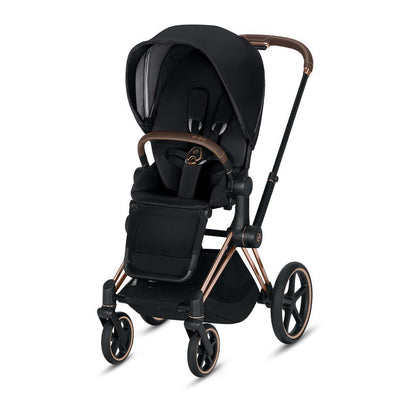 Cybex ePriam Pushchair - Premium Black-Strollers-Rose Gold-None- Natural Baby Shower