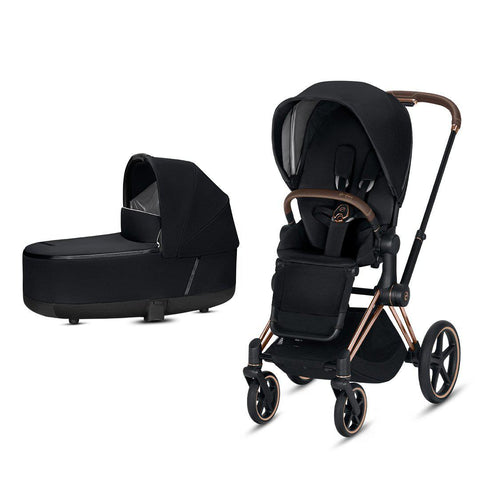 Cybex Priam Pushchair - Premium Black-Strollers-Rose Gold-Lux- Natural Baby Shower