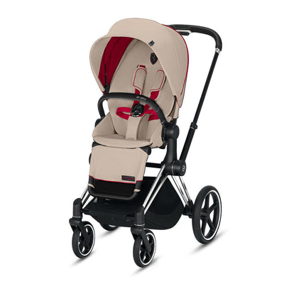 Cybex Priam Pushchair - Scuderia Ferrari - Silver Grey-Strollers-Chrome Black-None- Natural Baby Shower