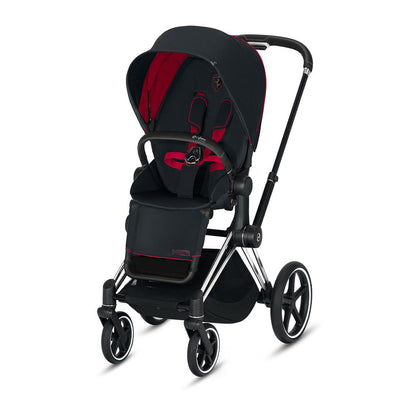 Cybex Priam Pushchair - Scuderia Ferrari - Victory Black-Strollers-Chrome Black-None- Natural Baby Shower