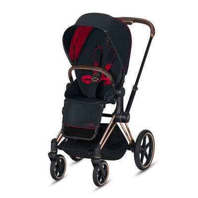 Cybex ePriam Pushchair - Scuderia Ferrari - Victory Black-Strollers-Rose Gold-None- Natural Baby Shower