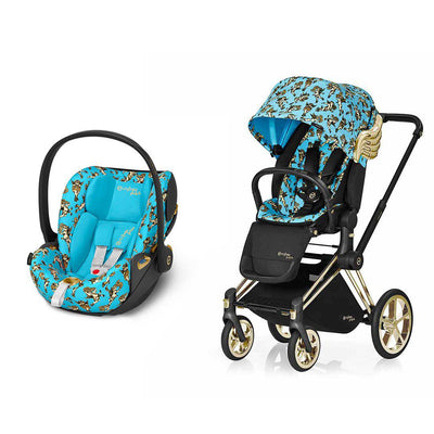 Cybex Priam Travel System - Cherub Blue by Jeremy Scott-Travel Systems-Gold-None-Cloud Z- Natural Baby Shower