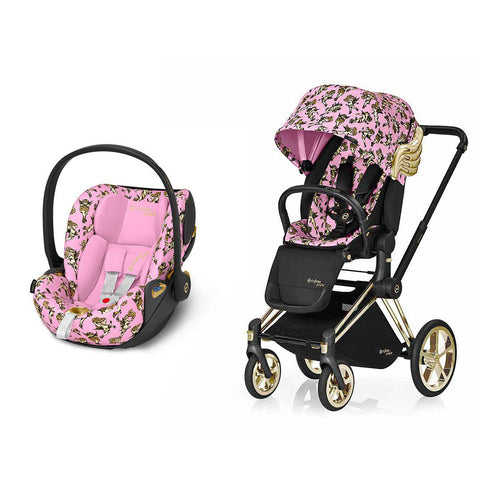 Cybex Priam Travel System - Cherub Pink by Jeremy Scott-Travel Systems-Gold-None-Cloud Z- Natural Baby Shower