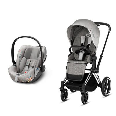 CYBEX Priam Travel System - Koi-Travel Systems-Chrome Black-None-Cloud Z- Natural Baby Shower