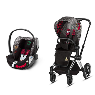 Cybex Priam Travel System - Rebellious-Travel Systems-Chrome Black-None-Cloud Z- Natural Baby Shower