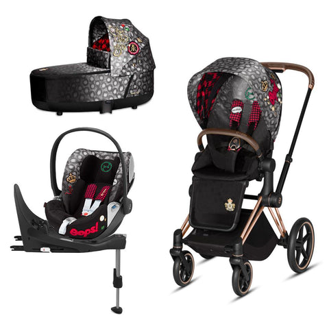 Cybex Priam Travel System - Rebellious-Travel Systems-Rose Gold-Lux-Cloud Z + Base- Natural Baby Shower