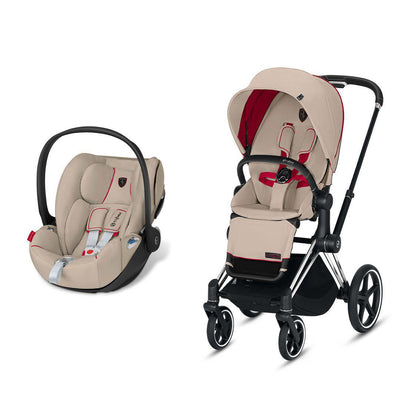 Cybex Priam Travel System - Scuderia Ferrari - Silver Grey-Travel Systems-Chrome Black-None-Cloud Z- Natural Baby Shower