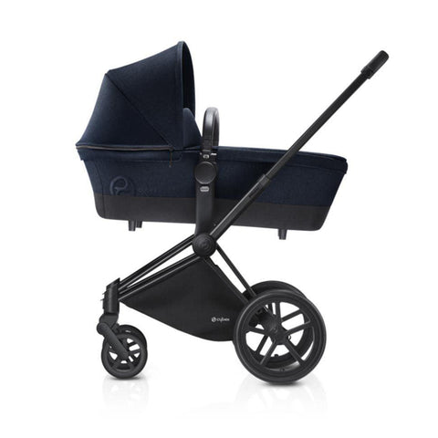 Cybex Priam Pushchair with Carrycot - Black Chassis + Midnight Blue