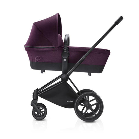 Cybex Priam Pushchair with Carrycot - Black Chassis + Mystic Pink