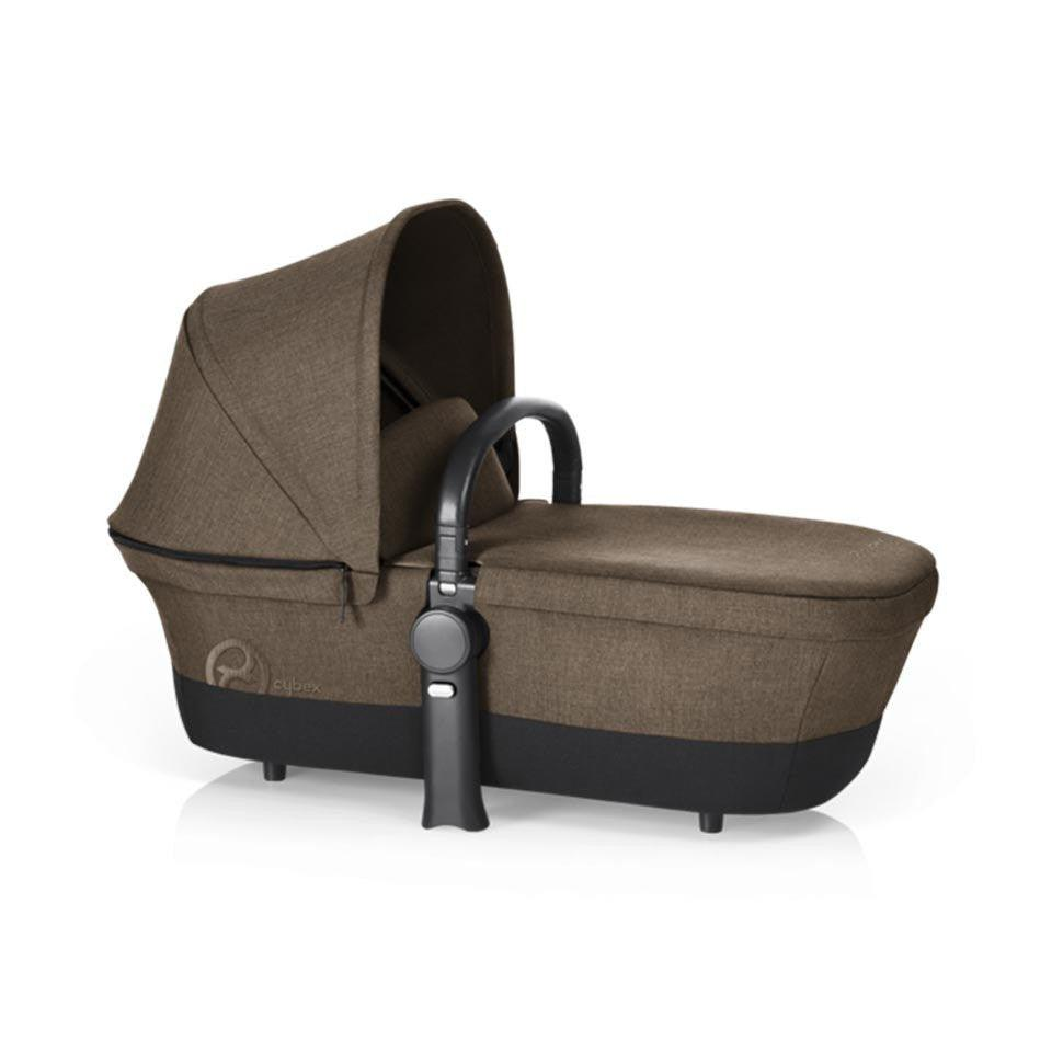 Cybex Priam Pushchair with Carrycot - Chrome Chassis + Cashmere Beige-Strollers- Natural Baby Shower