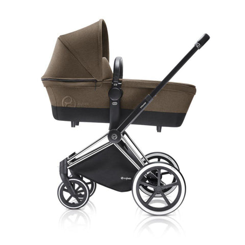 Cybex Priam Pushchair with Carrycot - Chrome Chassis + Cashmere Beige