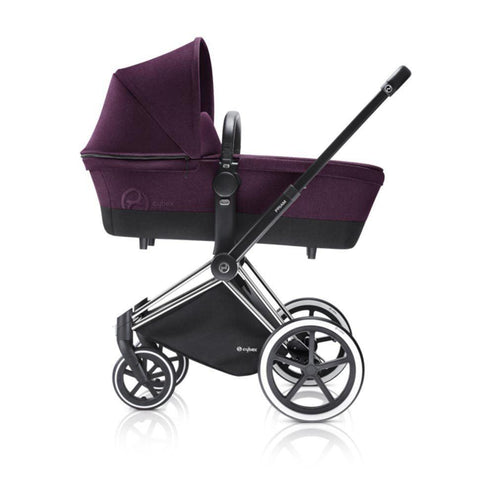 Cybex Priam Pushchair with Carrycot - Chrome Chassis + Mystic Pink
