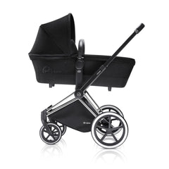 Cybex Priam Pushchair with Carrycot - Chrome Chassis + Stardust Black