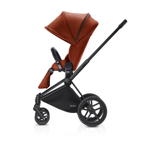 Cybex Priam Pushchair with Lux Seat - Black Chassis + Autumn Gold