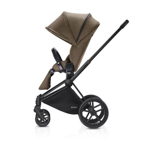 Cybex Priam Pushchair with Lux Seat - Black Chassis + Cashmere Beige