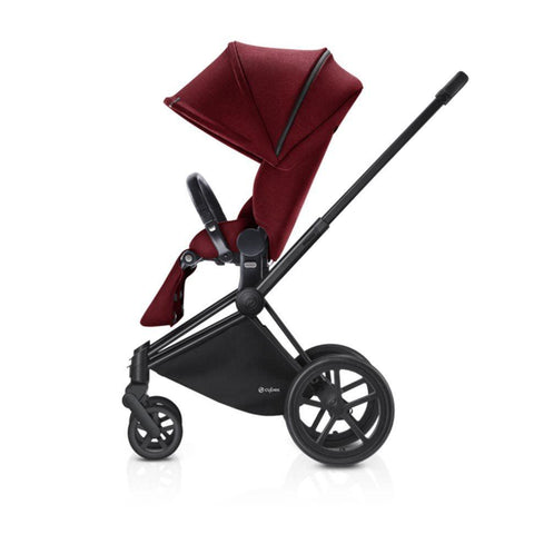 Cybex Priam Pushchair with Lux Seat - Black Chassis + Infra Red