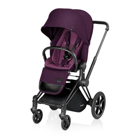 Cybex Priam Pushchair with Lux Seat - Black Chassis + Mystic Pink