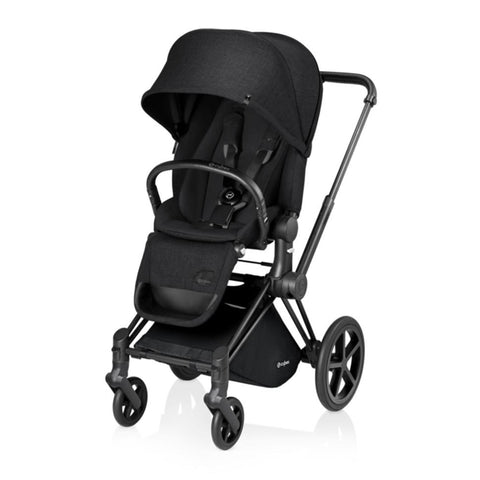 Cybex Priam Pushchair with Lux Seat - Black Chassis + Stardust Black
