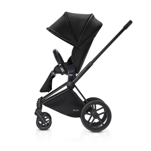 Cybex Priam Pushchair with Lux Seat - Black Chassis + Stardust Black - Strollers - Natural Baby Shower