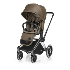 Cybex Priam Pushchair with Lux Seat - Chrome Chassis + Cashmere Beige