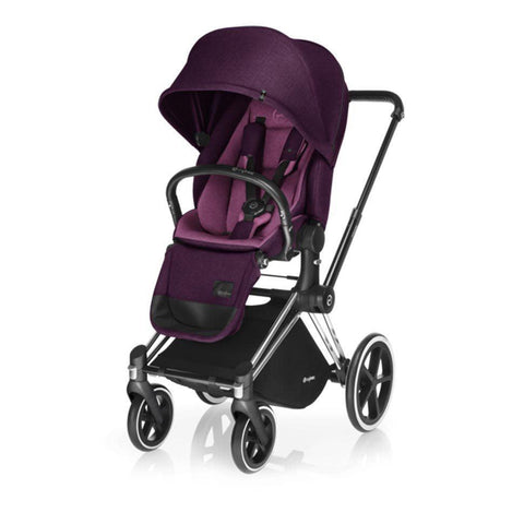 Cybex Priam Pushchair with Lux Seat - Chrome Chassis + Mystic Pink