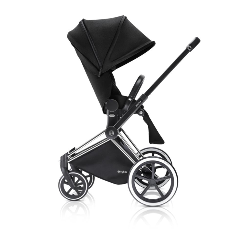Cybex Priam Pushchair with Lux Seat - Chrome Chassis + Stardust Black