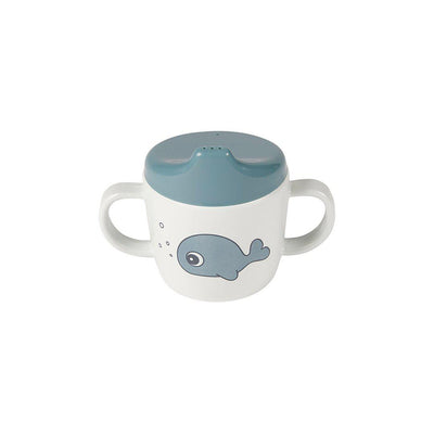 Done by Deer 2 Handles Spout Cup - Sea Friends - Blue-Cups & Straws-Blue- Natural Baby Shower