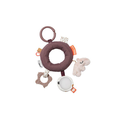 Done by Deer Activity Ring - Deer Friends - Powder-Soft Toys-Powder- Natural Baby Shower