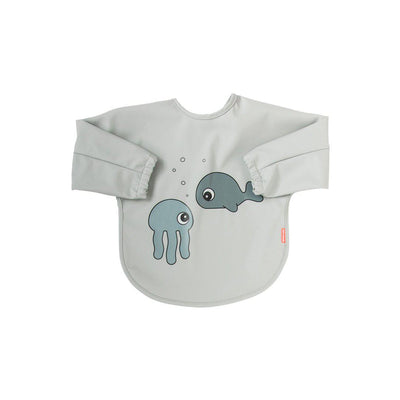 Done by Deer Sleeved Bib - Sea Friends - Grey-Bibs-Grey-6-18m- Natural Baby Shower