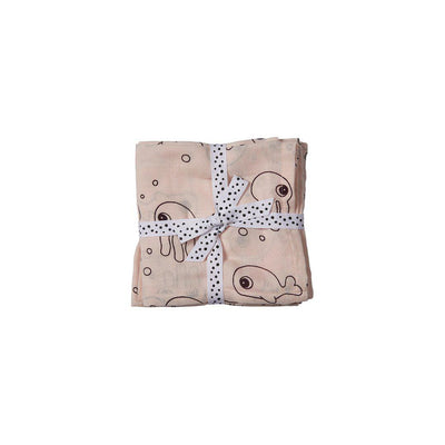 Done by Deer Swaddles - Sea Friends - Powder - 2 Pack-Swaddling Wraps-Powder- Natural Baby Shower