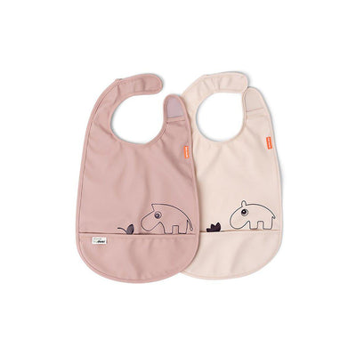 Done by Deer Velcro Bib - Deer Friends - Powder - 2 Pack-Bibs-Powder- Natural Baby Shower