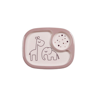 Done by Deer Yummy Mini Compartment Plate - Dreamy Dots - Powder-Bowls & Plates-Powder- Natural Baby Shower