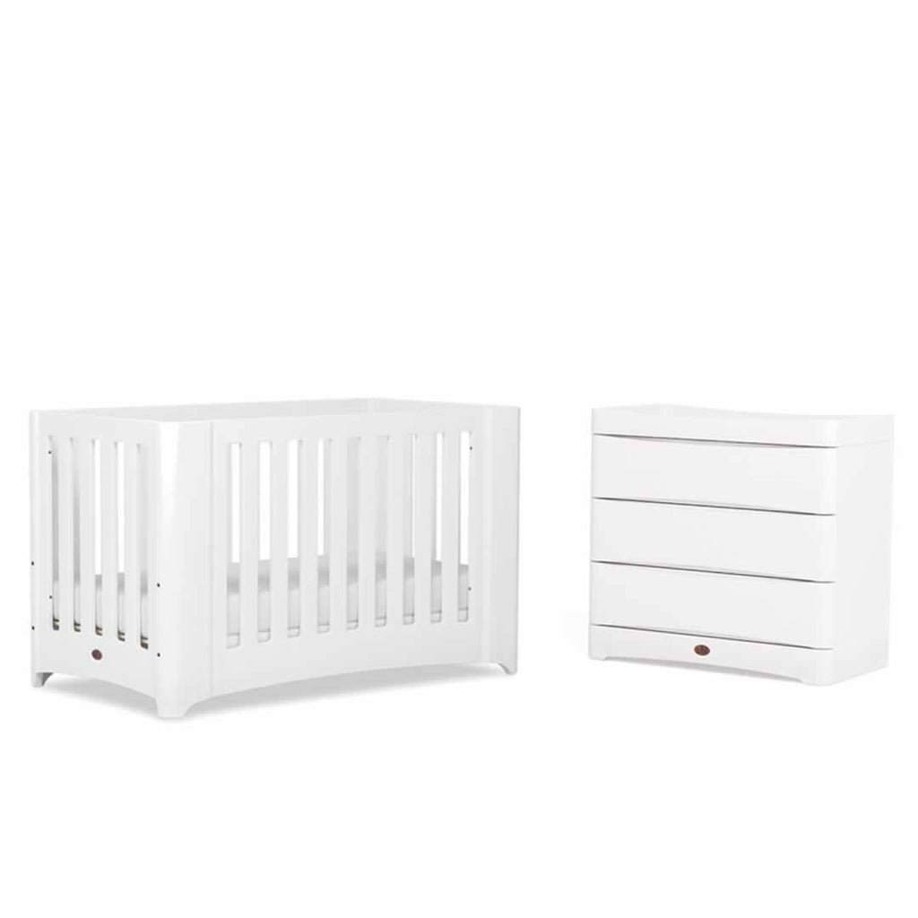 Dressers & Chests - Boori Dawn 3 Drawer Dresser With Changing Station - Beech & White