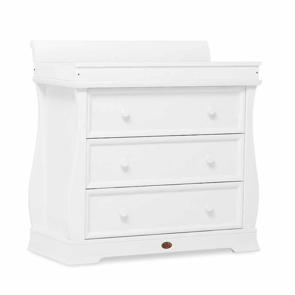 Boori Universal Sleigh 3 Drawer Dresser - White - Dressers & Chests - Natural Baby Shower