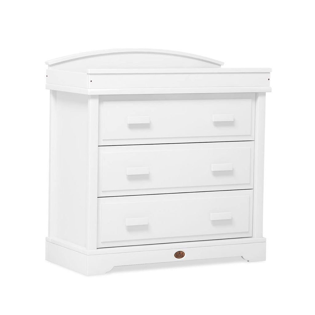 Boori Universal 3 Drawer Dresser with Arched Changing Station - White-Dressers & Chests- Natural Baby Shower