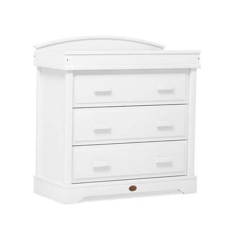 Boori Universal 3 Drawer Dresser with Arched Changing Station - White - Dressers & Chests - Natural Baby Shower