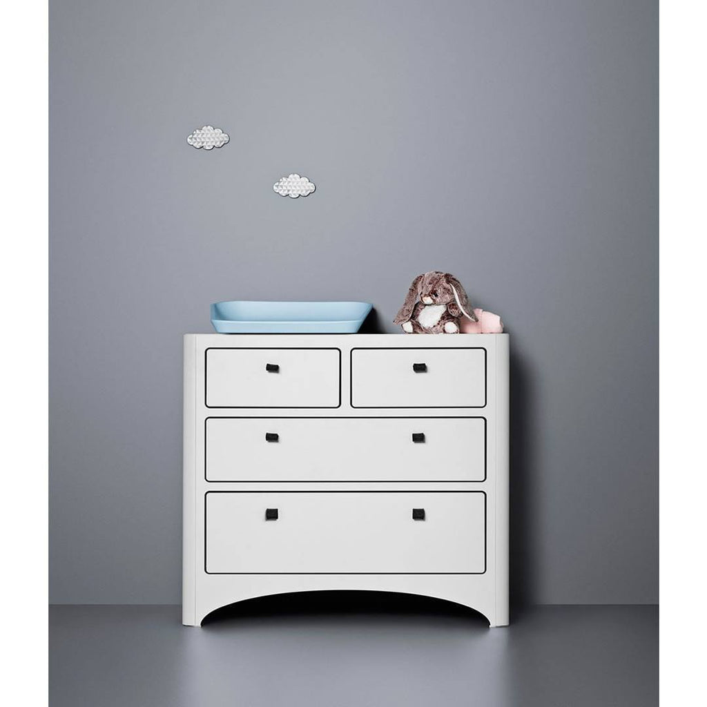 Leander Chest of Drawers - White-Dressers & Chests- Natural Baby Shower