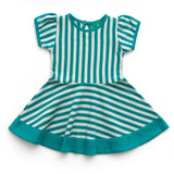 Dresses - Little Green Radicals Stripes Forever Dress - Aqua