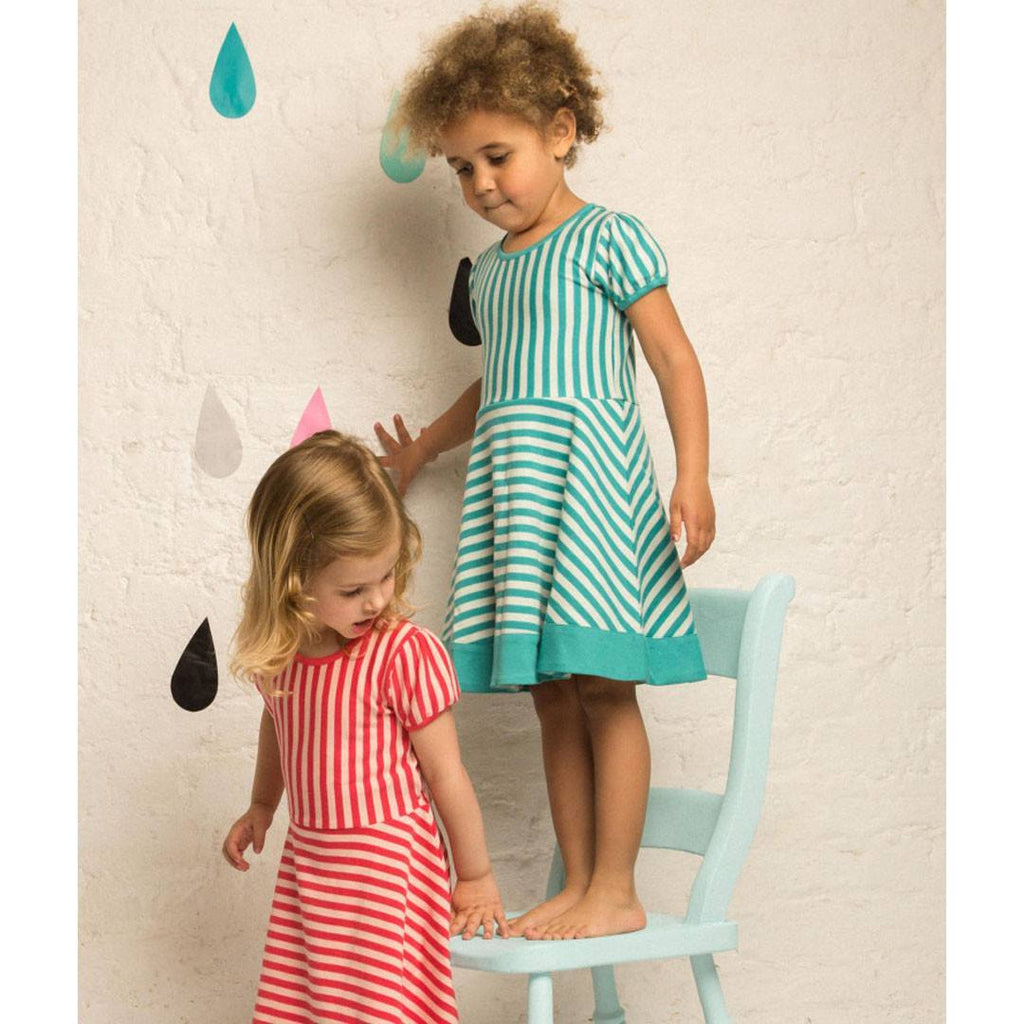 Little Green Radicals Stripes Forever Dress - Pink - Dresses - Natural Baby Shower