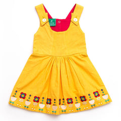 Dresses - Little Green Radicals Woven Tunic Dress - Daffodil