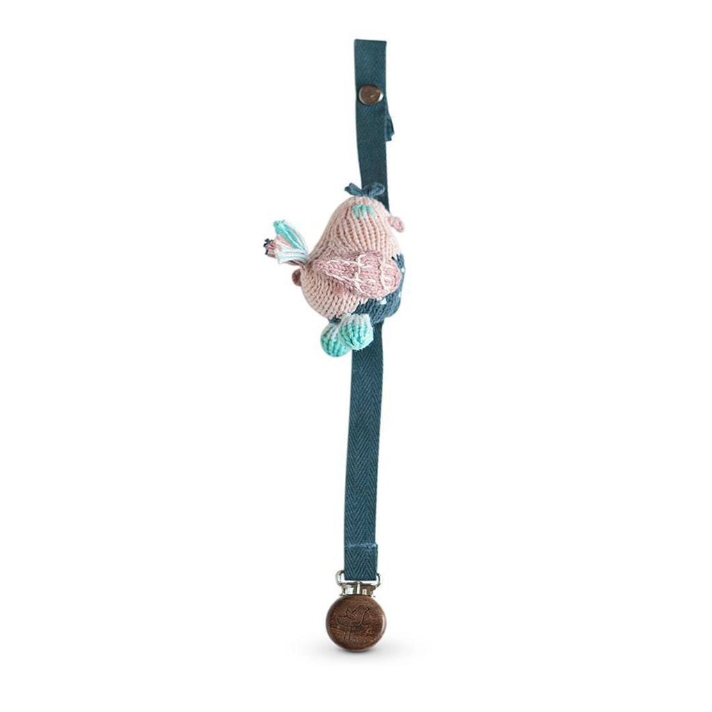 Finn + Emma Pacifier Holder - Stella the Sparrow - Dummy Chains - Natural Baby Shower