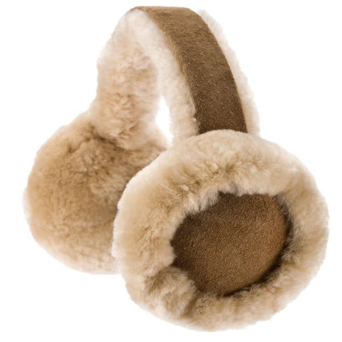 Earmuffs - ECL Childrens Sheepskin Earmuffs - Chestnut
